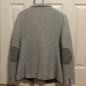 Loft grey chevron blazer with elbow patch size 14